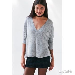 Urban Outfitters V-Neck Gray Sweater